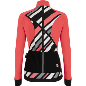 Santini Coral Raggio Winter Jacket Women, rojo